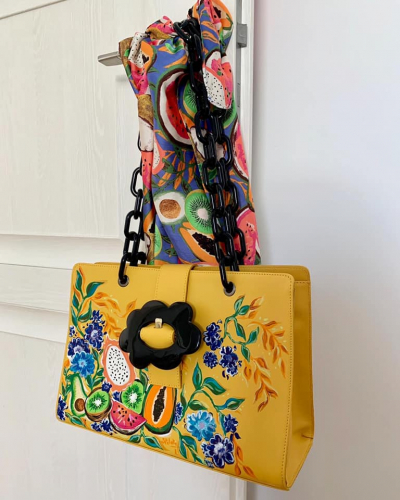 """Summer on your shoulder"" custom handbag"