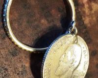 Salba Mariei - Inel cu Moneda Din Argint (inel de dama)