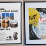 două reclame vintage la ANVELOPE, în rame format A3