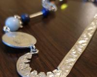 Salba Mariei - Semn de carte (argint, lapislazuli, aurora borealis)