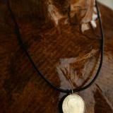 ArgintIon - Colier barbatesc, argint pe snur de piele negru