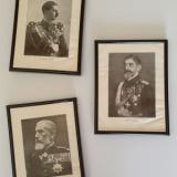 Cei trei regi ai Romaniei - imagini interbelice, înrămate